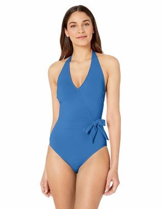 Gottex Women's Wrap Halter V-Neck One Piece Swimsuit