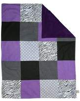 Trend Lab Grape Expectations Multi-Patched Receiving Blanket Purple Baby Boy or Baby Girl