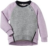 Vince Kids Fleece Sweatshirt (Toddler/Kid) - Blush/ Steel-2