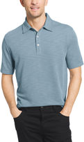 Van Heusen Short Sleeve Two Tone Slub Textured Polo Shirt