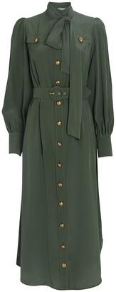 Zimmermann Silk Tie Midi Dress