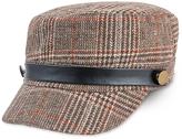 Magid Brown Plaid Contrast-Accent Cadet Cap
