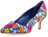 Manolo Blahnik BB Floral-Embroidered 50mm Pump