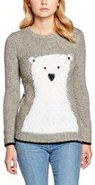 Yumi Women's Polar Bear Intarsia Animal Print Long Sleeve Jumper,