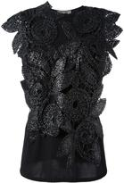 Sportmax embellished metallic flower blouse