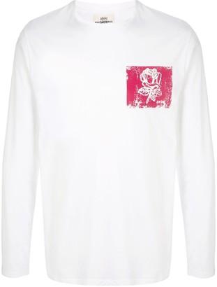 Kent & Curwen distressed rose print T-shirt