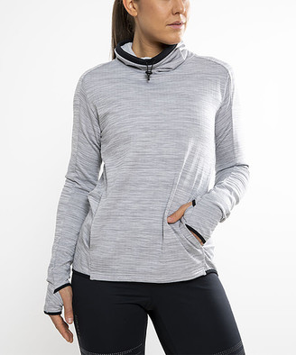 Craft Women's Pullover Sweaters GREY - Gray Melange Funnel-Neck Pullover - Women