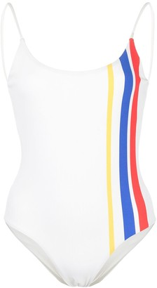Onia Gabriella stripe print swimsuit