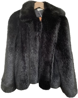 Totême Black Faux fur Coat for Women