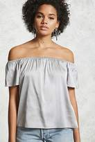 Forever 21 Off-the-Shoulder Satin Top