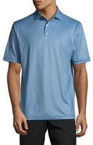 Peter Millar International Printed Birdseye Polo Shirt, Dark Blue