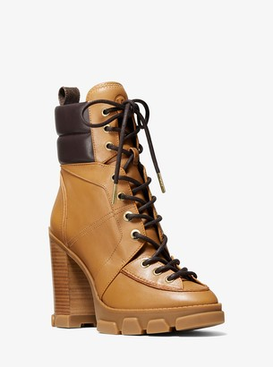 MICHAEL Michael Kors Ridley Leather Lace-Up Boot