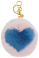 Miu Miu Pink Fur Heart Keychain