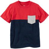 Carter's Boys 4-8 Short Sleeve Red & Navy Colorblock Pocket Tee