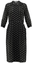 Comme des Garcons Peter Pan-collar Polka-dot Organza Dress - Womens - Black