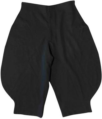 Comme des Garcons Black Wool Shorts for Women