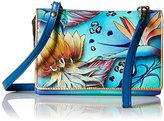 Anuschka Hand Painted Organizer Wallet with Smart Phone Case Wallet