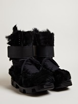 Rick Owens Men's Furry Cow Hide Plinth Boots
