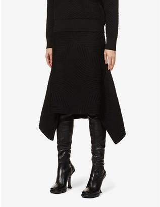 Alexander McQueen Textured wool-blend midi skirt