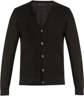 Lanvin V-neck wool and cotton-blend cardigan
