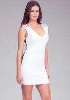 Bebe Embellished Contrast Dress