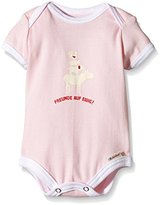 Adelheid Baby Body Girls Friends Forever Happy Organic Romper n/a Alb, 50 (Manufacturer Size: 50/56), Pink (Rosa 610)