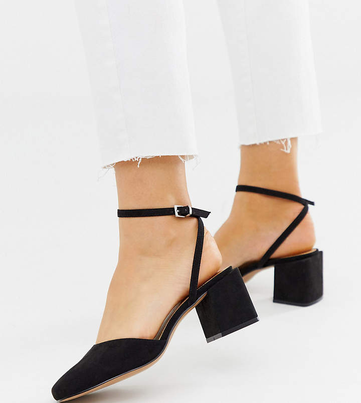 3b4ee4a4f508c Asos Black Ankle Strap Heels - ShopStyle Australia