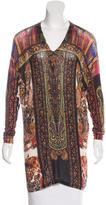 Etro Paisley Print V-Neck Sweater