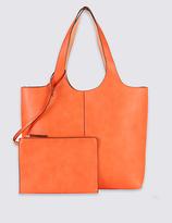 M&S Collection Faux Leather Reversible Shopper Bag