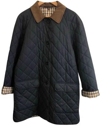 Aquascutum London Blue Cotton Coat for Women