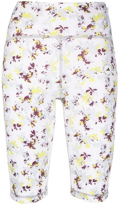 adidas by Stella McCartney Floral-Print Compression Shorts