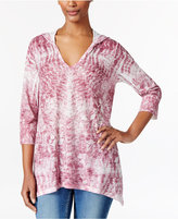 Style&Co. Style & Co. Petite Sublimated-Print Hoodie, Only at Macy's