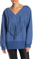 Tov V-Neck Fringe Sweater
