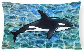 Orca Latitude Run Cloverdale Killer Whale Lumbar Pillow Latitude Run