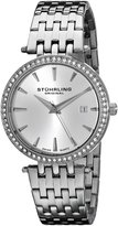 Stuhrling Original Women's 579.01 Vogue Soiree Tiara Swiss Quartz Swarovski Crystal Date Stainless Steel Bracelet Watch