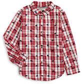 Hatley Moose Cotton Collared Shirt