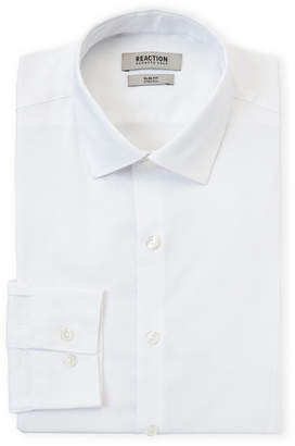 Kenneth Cole Reaction Solid Slim Fit Stretch Dress Shirt