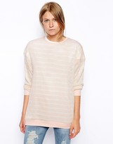Asos Sweater In Knitted Stripe