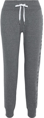 DKNY Embroidered Cotton-blend Fleece Track Pants