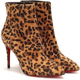 Christian Louboutin Eloise 85 calf hair ankle boots