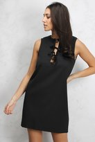 Rare Black Lace Up Shift Dress