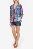 Camilla Lace Up Printed Blouse