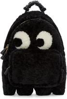 Anya Hindmarch Black Shearling Ghost Furry Backpack