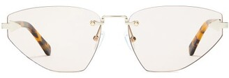 Karen Walker Heartache Cat Eye Sunglasses - Womens - Light Brown