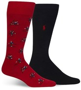 Polo Ralph Lauren Tumbling Skiers Trouser Socks - Pack of 2