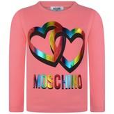 Moschino MoschinoGirls Fuchsia Hearts Print Jersey Top