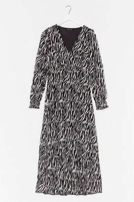 Nasty Gal Womens The Last I Herd Zebra Maxi Dress - Black - L