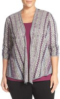 Nic+Zoe Plus Size Women's 'Balance' 4-Way Convertible Cardigan