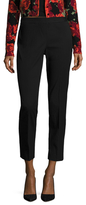 Josie Natori Textured Solid Ankle Pant