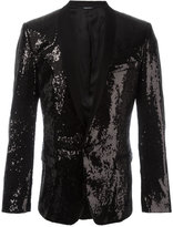 Dolce & Gabbana sequinned blazer - men - Silk/Polyester/Spandex/Elastane/Virgin Wool - 48